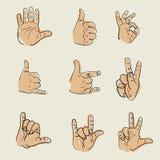 Vector del bosquejo de las manos Imagen de archivo