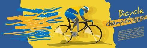 Vector del campeonato de la bicicleta Fotografía de archivo