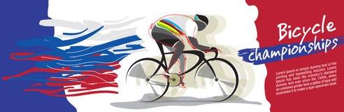 Vector del campeonato de la bicicleta Imagenes de archivo