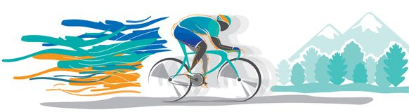 Vector del campeonato de la bicicleta Fotos de archivo libres de regalías