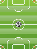 Vector del campo de fútbol Fotografía de archivo libre de regalías