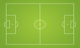 Vector del campo de fútbol Fotos de archivo libres de regalías