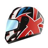 Vector del casco de la motocicleta stock de ilustración