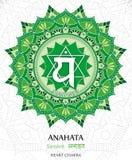 Vector del chakra de Anahata ilustración del vector