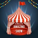Vector del circo del Funfair Cartel con la tienda ilustración del vector