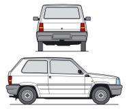 Vector del coche compacto imagenes de archivo