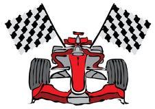 Vector del coche de competición de la fórmula 1 Imágenes de archivo libres de regalías