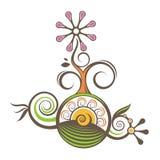 Vector del color de la flor ilustración del vector