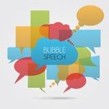 Vector del color del discurso de la burbuja Imagen de archivo