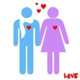 Vector del color del pictograma del amor Fotos de archivo