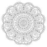 Vector del colorante de la flor de la mandala para los adultos Imágenes de archivo libres de regalías