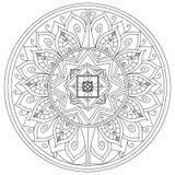 Vector del colorante de la flor de la mandala para los adultos Imagen de archivo