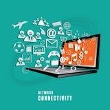 Vector del concepto de la conectividad de red Foto de archivo libre de regalías