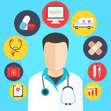 Vector del concepto de la medicina Imagen de archivo libre de regalías