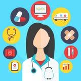 Vector del concepto de la medicina Fotografía de archivo libre de regalías