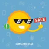 Vector del concepto de la venta del verano plano Imagen de archivo libre de regalías