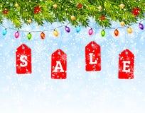 Vector del concepto de la venta de la Navidad Imágenes de archivo libres de regalías
