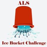 Vector del concepto del desafío del cubo de hielo del ALS Fotos de archivo libres de regalías