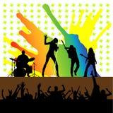 Vector del concierto de rock Imagenes de archivo