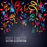 Vector del confeti del partido Foto de archivo