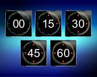 Vector del contador de tiempo de Digitaces Imagen de archivo libre de regalías