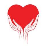 Vector del corazón Foto de archivo libre de regalías