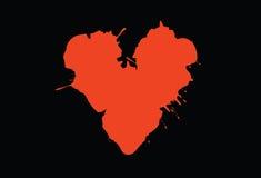 Vector del corazón de sangría libre illustration