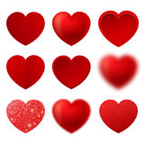 Vector del corazón Símbolo del amor Muestra del día del ` s de la tarjeta del día de San Valentín aislada en el fondo blanco Imagenes de archivo