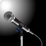 Vector del cordón del micrófono Fotos de archivo