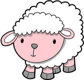 Vector del cordero de las ovejas stock de ilustración