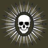 Vector del cráneo de Grunge stock de ilustración