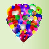 Vector del cumpleaños de los impulsos de los corazones del amor de Colotful stock de ilustración