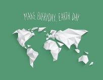 Vector del Día de la Tierra Imagen de archivo