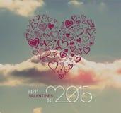 Vector del día de tarjetas del día de San Valentín Fotos de archivo