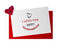 Vector del día de tarjetas del día de San Valentín Imagen de archivo libre de regalías