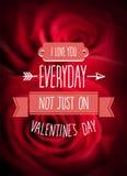 Vector del día de tarjetas del día de San Valentín Foto de archivo