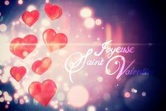 Vector del día de tarjetas del día de San Valentín Imagenes de archivo