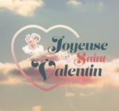 Vector del día de tarjetas del día de San Valentín Imágenes de archivo libres de regalías