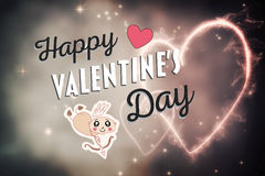 Vector del día de tarjetas del día de San Valentín Fotografía de archivo libre de regalías