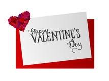 Vector del día de tarjetas del día de San Valentín Fotografía de archivo