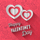 Vector del día de tarjetas del día de San Valentín Imagen de archivo