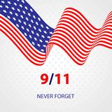 Vector del día del patriota Ejemplo de U S Una bandera para el aislador conmemorativo libre illustration