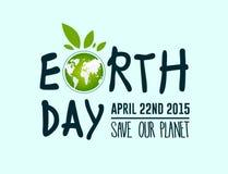 Vector del Día de la Tierra Fotografía de archivo