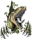 Vector del dinosaurio del rapaz Foto de archivo libre de regalías