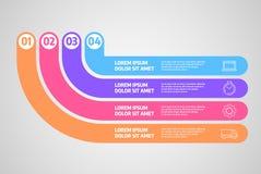 Vector del diseño de Infographics Concepto del negocio con pasos o procesos stock de ilustración