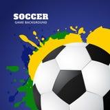 Vector del diseño de juego de fútbol ilustración del vector