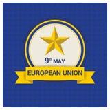 Vector del diseño de la bandera de unión europea stock de ilustración