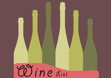 Vector del diseño de la carta de vinos Foto de archivo libre de regalías