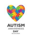 Vector del diseño de la conciencia del autismo Foto de archivo libre de regalías