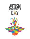 Vector del diseño de la conciencia del autismo Fotografía de archivo